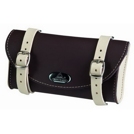 MONTEGRAPPA Leather Saddle Bag (BRN/WH)(II)