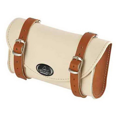 MONTEGRAPPA Leather Saddle Bag (CRM/HONEY)