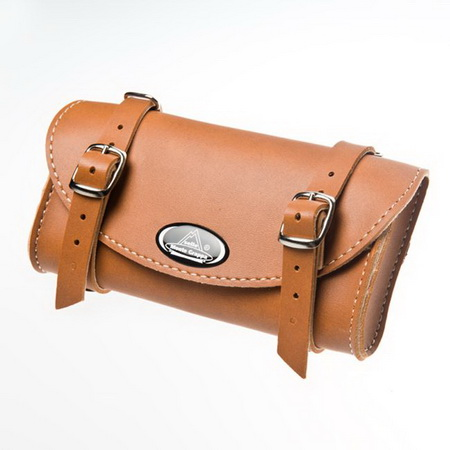 MONTEGRAPPA Leather Saddle Bag (HONEY)(II)