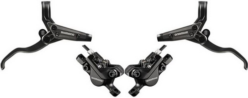 SHIMANO Brakes BR-M447 with levers BL-M445 (set F+R) BK