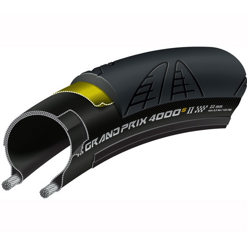 CONTINENTAL GRAND PRIX 4000S II 700x23 Folding (BK)(IV)