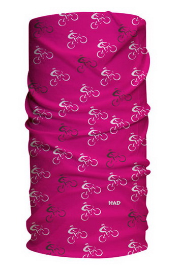 HAD HAT-HOOD BIKE BLACK MAGENTA