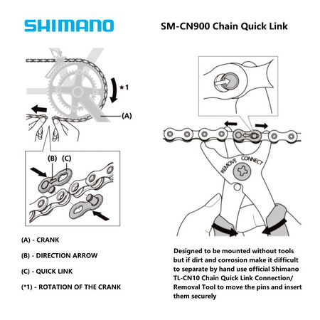 SHIMANO Chain Link for 11spd chain (SM-CN900-11)