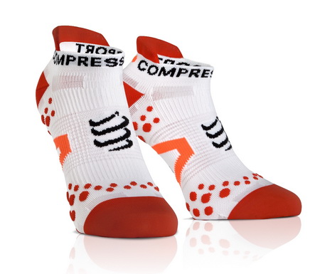 COMPRESSPORT Συμπίεσης V2.1 3D RUN Low (WH-RD)(45-47)(Τ4)