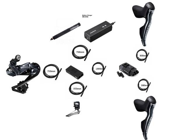 SHIMANO Group Set ULTEGRA R8050 Di2 Upgrade Kit
