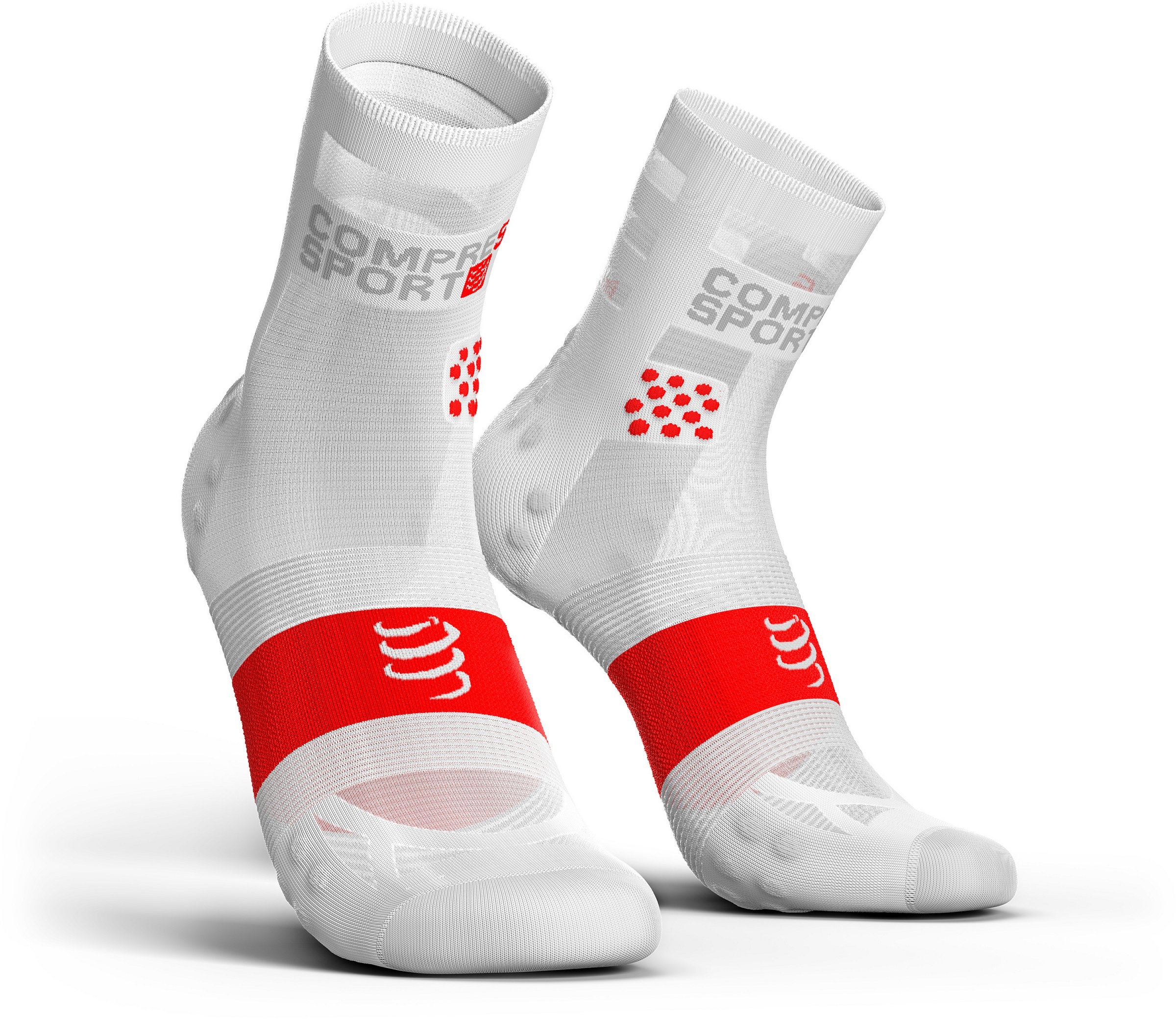 COMPRESSPORT Pro Racing Socks V3.0 Ultra Light WH/RD (42-44)(45-