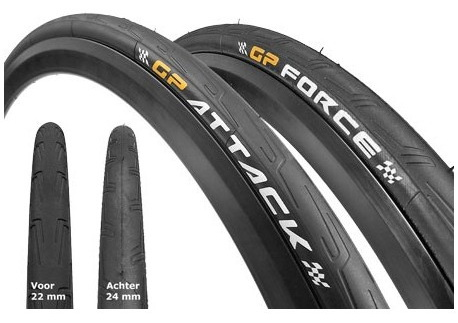 CONTINENTAL GP Force II and Attack II 700x23/25 (BK) PAIR