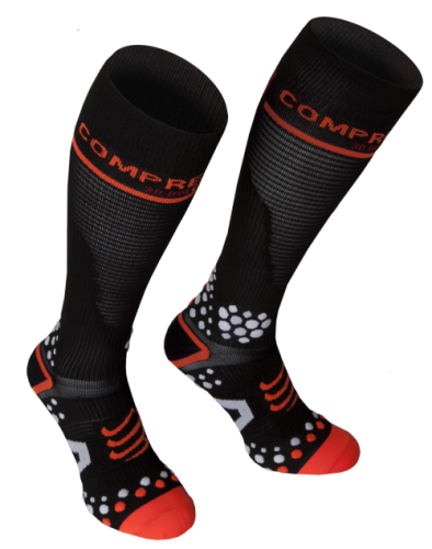 COMPRESSPORT Socks 3D V2.1FULL(BK-RD)(42-44)3M