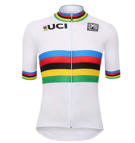 SANTINI Μπλούζα UCI WORLD CHAMPION (M) (WH)