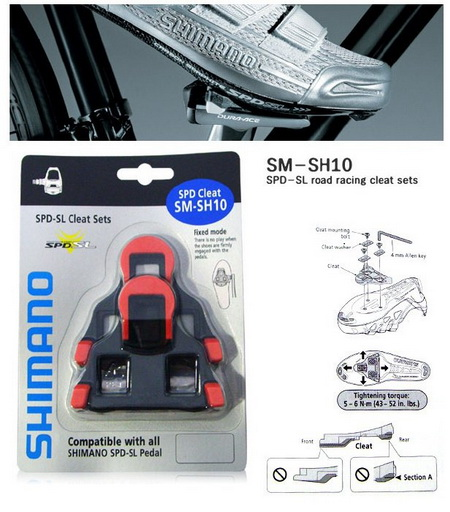 SHIMANO Shoe Cleats SM-SH10 0o (RD)