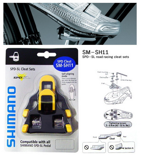 SHIMANO Shoe Cleats SM-SH11 6o (YL)